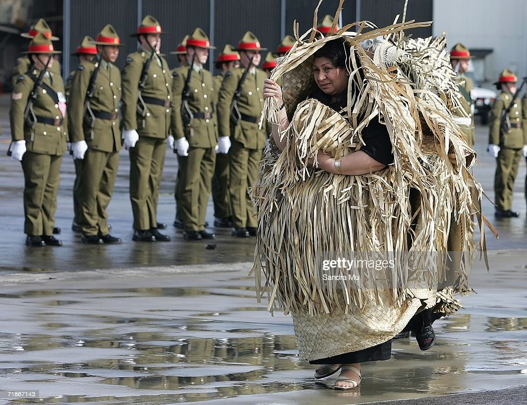 Princess Pilolevu walks past the guard of honour as she follows the hearse carrying her father, the late Tongan King Taufa'ahau Tupou IV at Whenuapai Airbase, September 13, 2006 in Auckland, New Zealand. The King died on Sunday and lay in state in Auckland yesterday before making the journey home to Tonga on the Hurcules plane for his State funeral to be held on September 19, 2006.