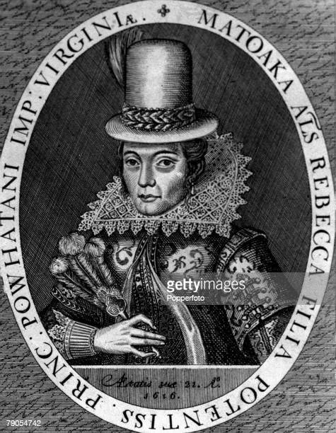 Princess Pocahontas who became the wife of John Rolfe who was a leading settler in Virginia USA