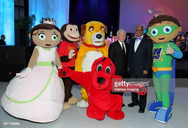 Princess Presto Curios George Martha Clifford President and CEO of PBS SoCaL Mel Rogers CEO of Sesame Workshop H Melvin Ming and Super Why attend the...