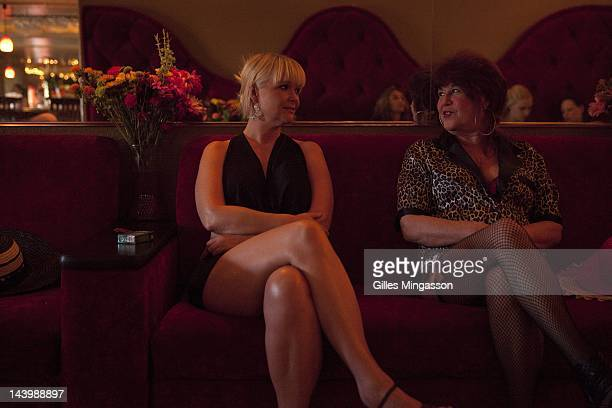 Princess Rio chats with a 58 years old prostitute as they wait for clients on November 18 2010 at the Love Ranch a brothel located on the outskirts...