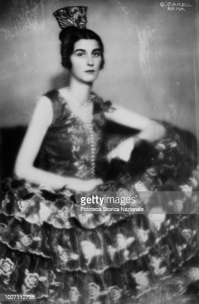 Princess Romanova Photographic portrait in a Spanish dress by Ghitta Carell photographer Hungarian naturalized Italian official portraitist of the...