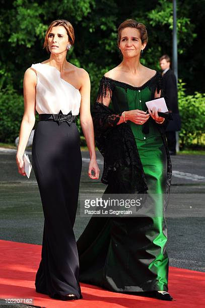 Princess Rosario of Bulgaria and Princess Elena of Spain and guest attend the Government PreWedding Dinner for Crown Princess Victoria of Sweden and...