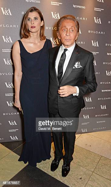 Princess Rosario of Bulgaria and Valentino Garavani attend a private dinner celebrating the Victoria and Albert Museum's new exhibition 'The Glamour...