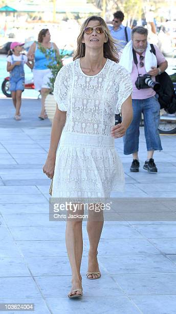 Princess Rosario of Bulgaria attends a prewedding reception at the Poseidon Hotel on August 24 2010 in Spetses GreeceThe small greek Island three...