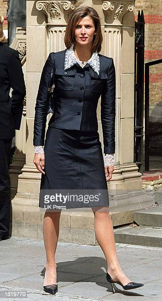 Princess Rosario of Bulgaria attends the christening of Crown Prince Crown Princess Pavlos of Greece''s son Achileas Andraes June 7 2001 at the Greek...