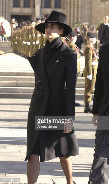 Princess Rosario Of Bulgaria Attends The Funeral Of Grand Duchess JosephineCharlotte Of Luxembourg At The Cathedral NotreDame Du Luxembourg