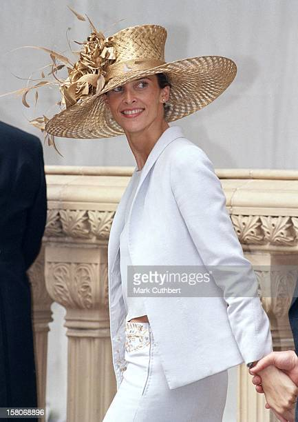 Princess Rosario Of Bulgaria Attends The Wedding Of Princess Alexia Of Greece And Carlos Morales Quintana At The St. Sophia Cathedral In London. .