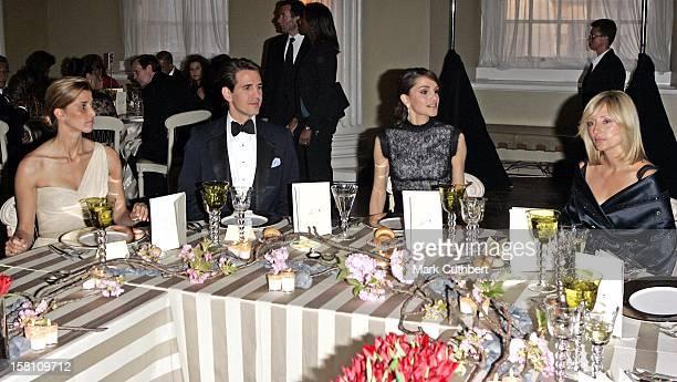 Princess Rosario Of Bulgaria Queen Rania Of Jordan Crown Prince Pavlos Crown Princess MarieChantal Of Greece Attend A Dinner To Launch The Jordan...