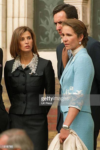 Princess Rosario of Bulgaria the Duchess of Lugo Infanta Elena of Spain attends the christening of Crown Prince Crown Princess Pavlos of Greece''s...