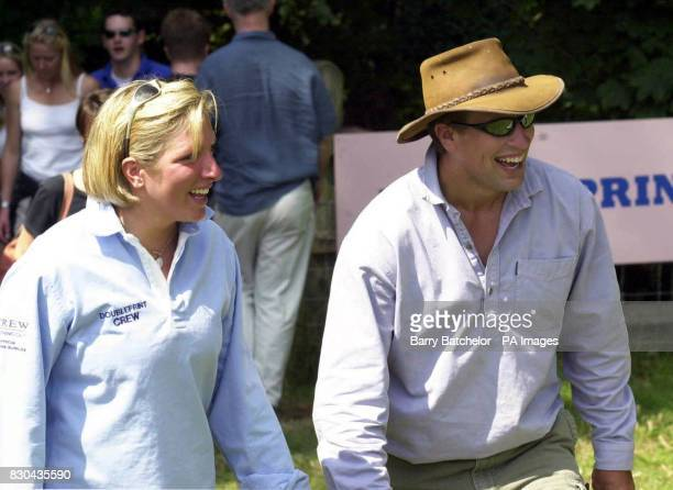 Princess Royal's Peter Phillips with his friend Elizabeth Iorio watching the Doubleprint British Horse Trials Championships at Gatcombe Park...