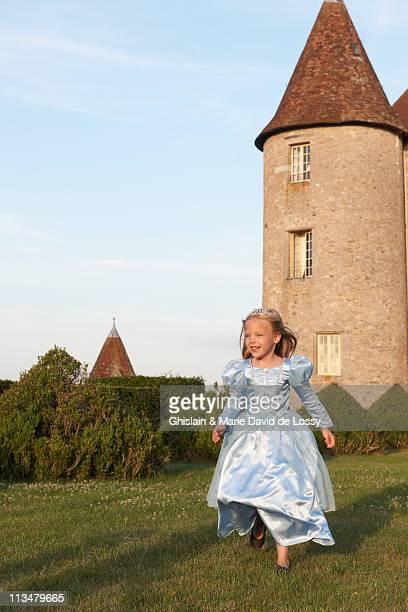 Prinzessin Laufen in castle's garden