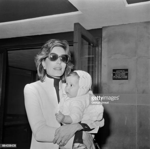 Princess Salimah Aga Khan with her daughter Princess Zahra Aga Khan at Heathrow Airport London UK 4th May 1971