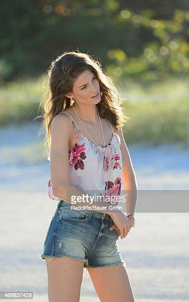 Princess Salwa Aga Khan formerly known as Kendra Spears is seen as she poses during a photo shoot on February 16 2014 in Miami Florida