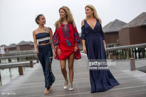 Princess Samantha Binti Victoria Bonya and Hofit Golan are seenat Hideaway Beach Resort Spa on November 8 2017 in Male Maldives
