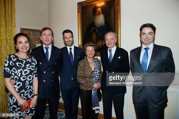 Princess Serguei Obolensky, Prince Charles-Henri de Lobkowicz, Christos Markogiannakis, Princess Suzanne Mourousy, Prince Constantin Mourousy and...