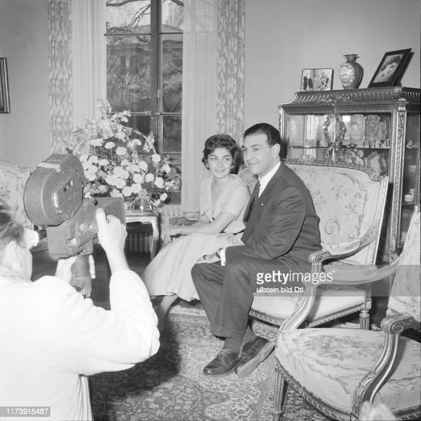Princess Shahnaz of Persia and her husband Ardeshir Zahedi 1957