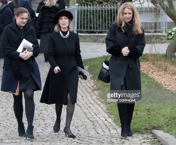 Princess Sibilla of Luxembourg pictured after the funeral service for Count Philippe de Lannoy at FrasnesLezAnvaing Wednesday 16 January 2019 The...