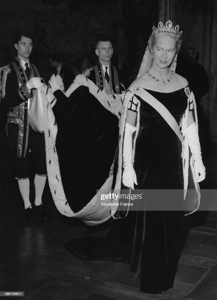 Princess Sibylla Of Sweden On Her Way To The Hall Of State In The Traditional Swedish Court Dress : News Photo