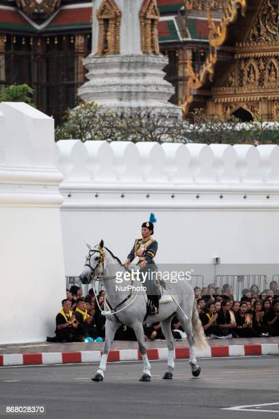 HRH Princess Sirivannavari leads the final procession to enshrine the relics of the late Thai King Bhumiphol Adulyadej in two Buddhist temples in...