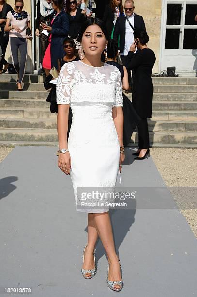 Princess Sirivannavari Narirat arrives at the the Christian Dior show as part of the Paris Fashion Week Womenswear Spring/Summer 2014 at Musee Rodin...