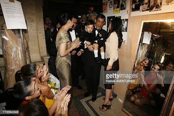 Princess Sirivannavari Nariratana Of Thailand Fashion Collection In Paris France On September 29 2007 Backstage after the fashion show Crown prince...
