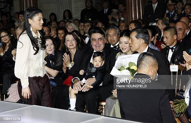 Princess Sirivannavari Nariratna HRH Crown Prince Maha Vajiralongkorn and family Mr Alain Hivelin in Paris France on September 29 2007