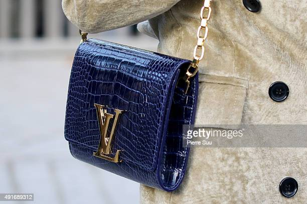 Princess Siriwanwaree Nareerat Of Thailand handbag detail arrives at the Louis Vuitton show as part of the Paris Fashion Week Womenswear...