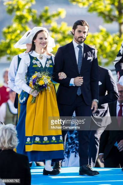 Princess Sofia and Prince Carl Phillip of Sweden during the national day celebrations at Skansen on June 6 2017 in Stockholm Sweden