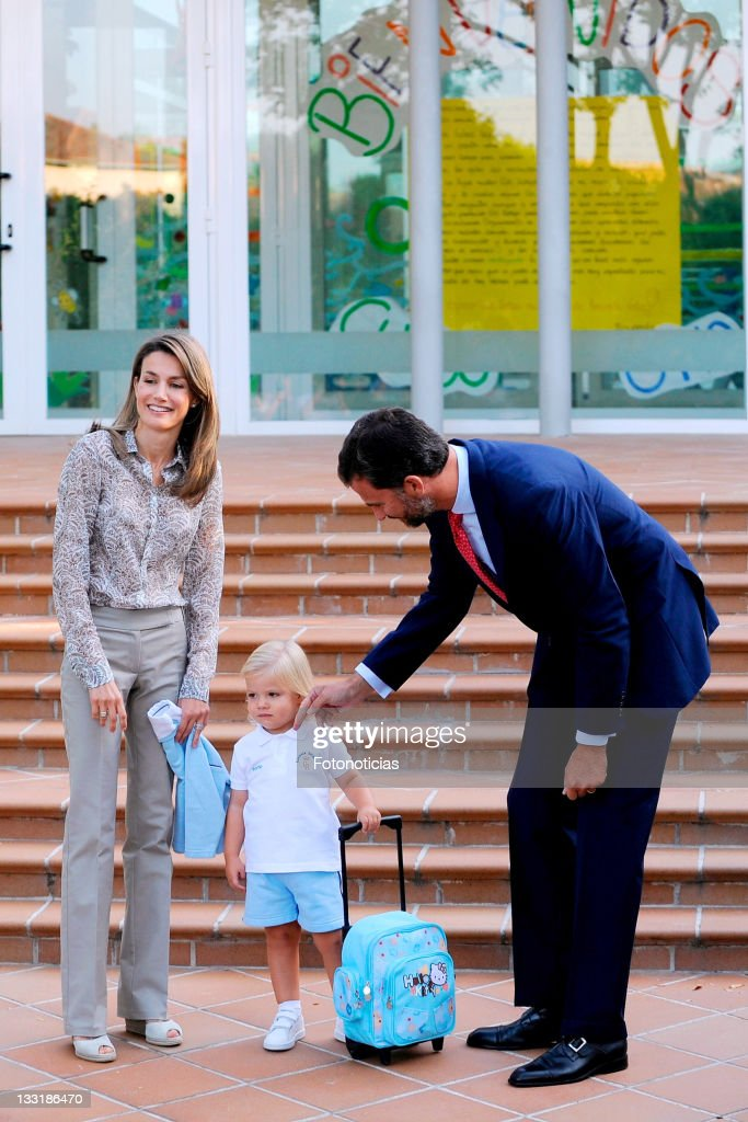 Sofia Of Spain Attends First Day Of School : News Photo