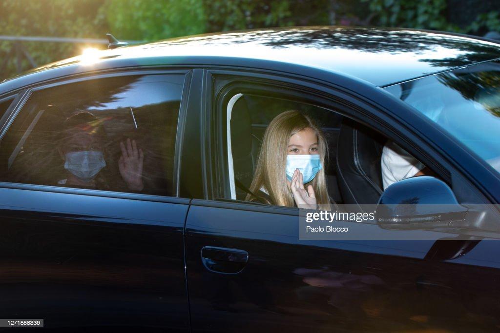 Princess Sofia Of Spain Starts The School Course : News Photo