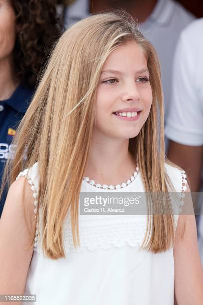 Princess Sofia of Spain attends the 38th Copa del Rey Mapfre Sailing Cup on August 01, 2019 in Palma de Mallorca, Spain.