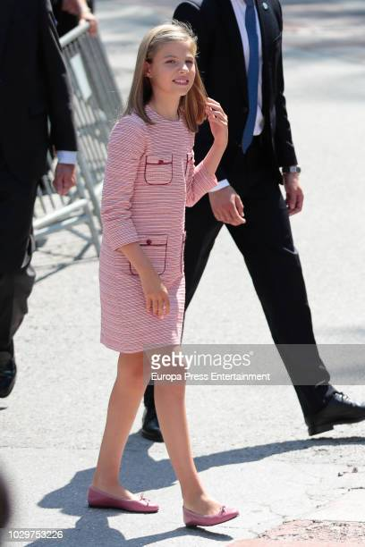 Princess Sofia of Spain attends the Centenary of the Catholic Coronation of the Virgin of Covadonga at Santa Cueva de Covadonga and the 13rd...