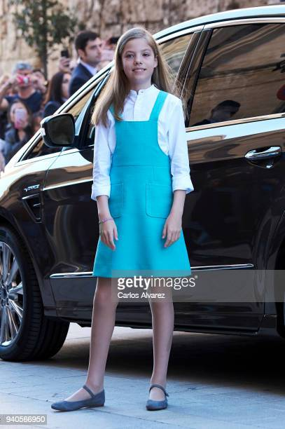 Princess Sofia of Spain attends the Easter mass on April 1 2018 in Palma de Mallorca Spain