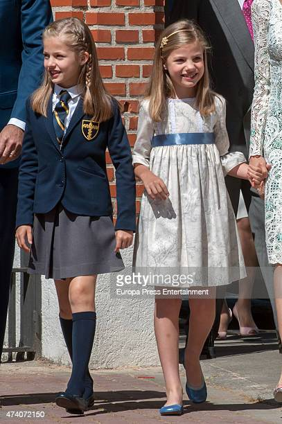Princess Sofia of Spain attends the First Communion of Princess Leonor of Spain on May 20 2015 in Madrid Spain