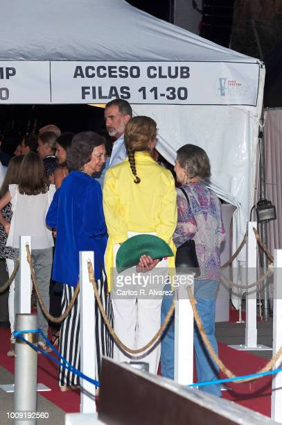Princess Sofia of Spain Queen Sofia King Felipe VI of Spain Princess Elena and Princess Irene of Greece attend Ara Malikian concert at Port Adriano...