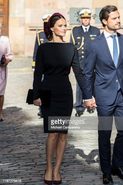 Princess Sofia of Sweden and Prince Carl Philip of Sweden attend a church ceremony in connection with the opening of the Parliamentary session at the...