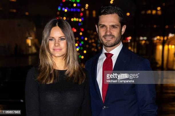 Princess Sofia of Sweden and Prince Carl Philip of Sweden attend the concert Christmas in Vasastan at Gustaf Vasa Church on December 21 2019 in...