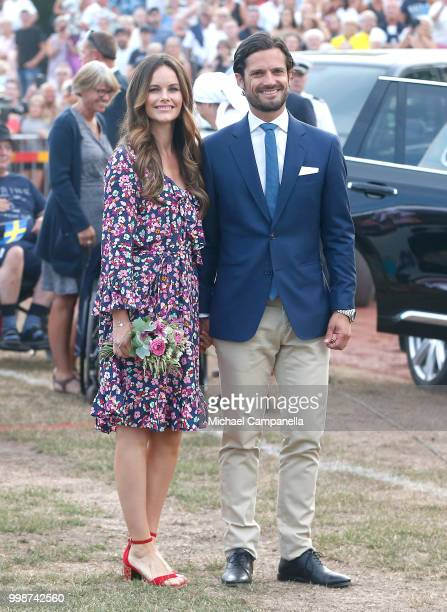Princess Sofia of Sweden and Prince Carl Philip of Sweden during the occasion of The Crown Princess Victoria of Sweden's 41st birthday celebrations...