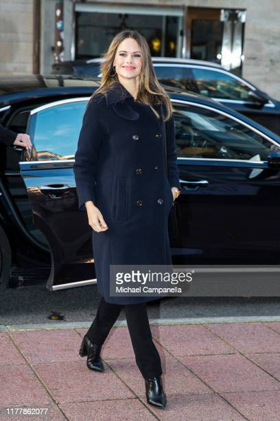 """Princess Sofia of Sweden arrives at at the Business House to attend the conference """"Philanthropy, entrepreneurship and research - the UN's global..."""