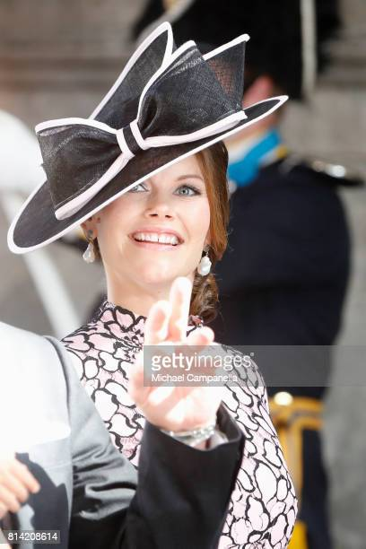 Princess Sofia of Sweden arrives for a thanksgiving service on the occasion of The Crown Princess Victoria of Sweden's 40th birthday celebrations at...