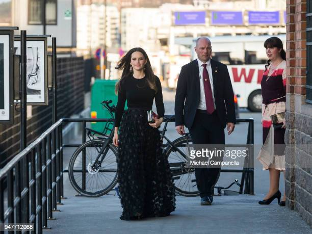Princess Sofia of Sweden arrives for the UNDP's Spring Gala at the Fotografiska photography museum on April 17 2018 in Stockholm Sweden