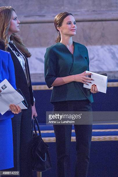 Princess Sofia of Sweden attend the Global Child Forum at the Hall of State in the Royal Palace on November 26 2015 in Stockholm Sweden