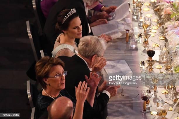 Princess Sofia of Sweden attend the Nobel Prize Banquet 2017 at City Hall on December 10 2017 in Stockholm Sweden