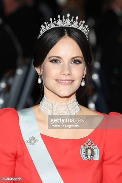Princess Sofia of Sweden attend the Nobel Prize Banquet 2018 at City Hall on December 10 2018 in Stockholm Sweden