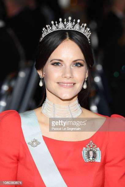 Princess Sofia of Sweden attend the Nobel Prize Banquet 2018 at City Hall on December 10 2018 in Stockholm Sweden