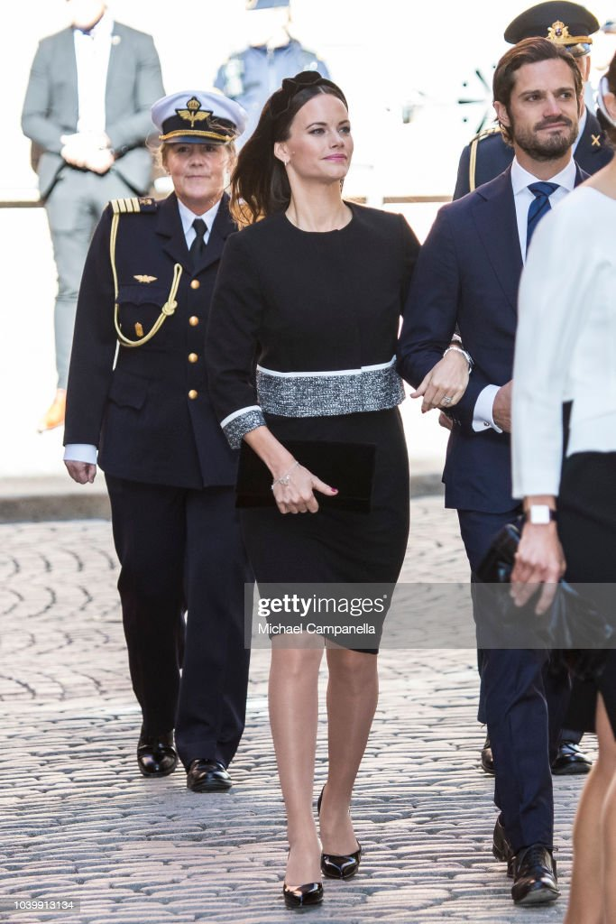 Swedish Royals Attend A Service In Connection with The Opening Of The Parliamentary Session : News Photo