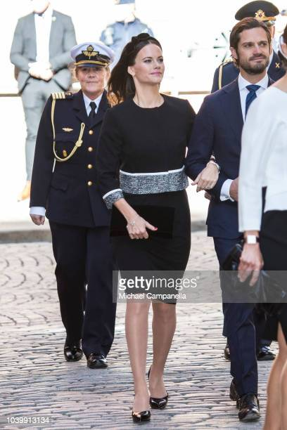Princess Sofia of Sweden attends a church service at the Stockholm Cathedral in connection with the opening of the Swedish parliamentary session on...