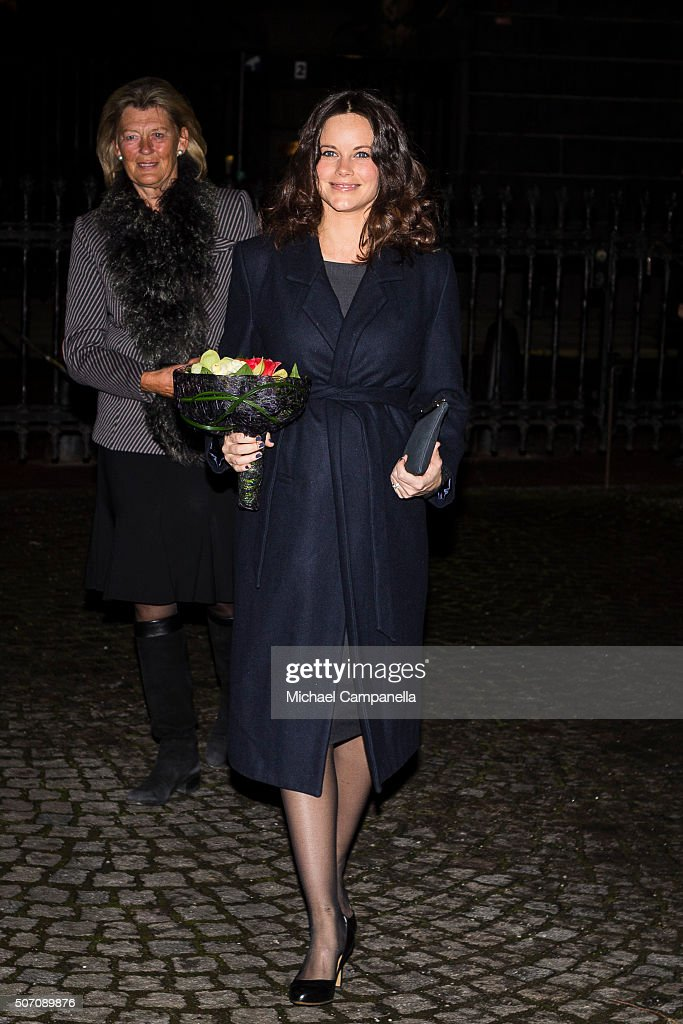 Princess Sofia of Sweden attends a memorial ceremony in connection with the Holocaust Memorial Day at the Stockholm Synagogue on January 27, 2016 in Stockholm, Sweden.