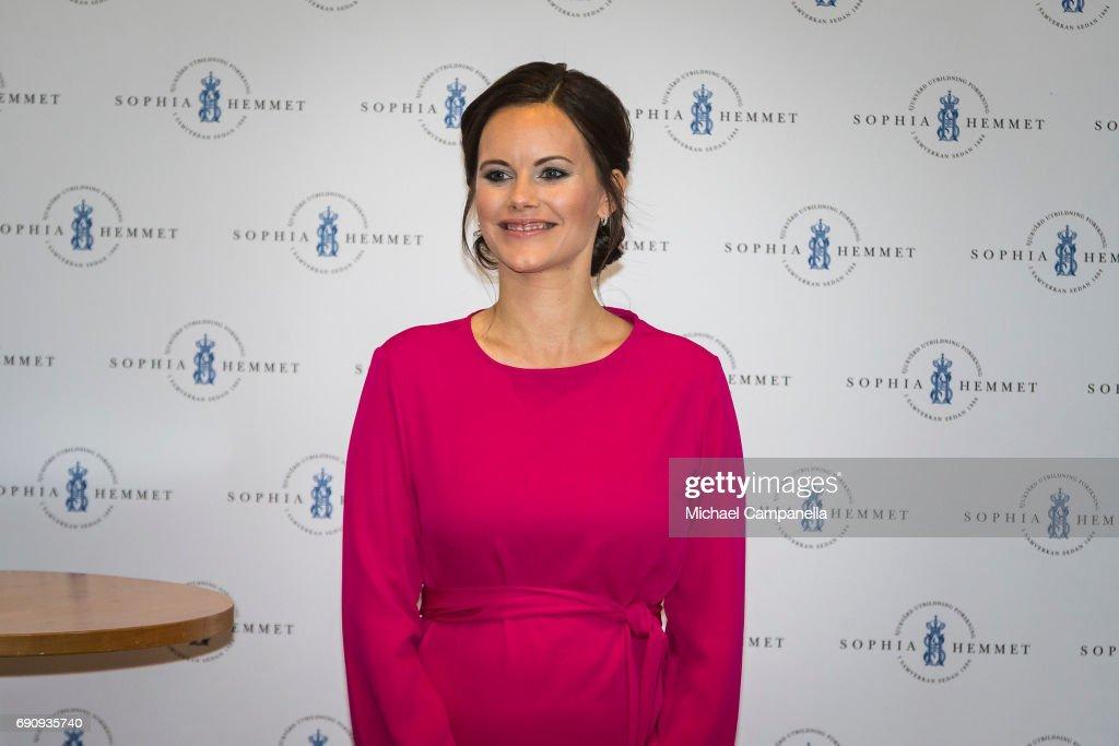 Princess Sofia of Sweden attends a merit ceremony at Sophiahemmet College on May 31, 2017 in Stockholm, Sweden.