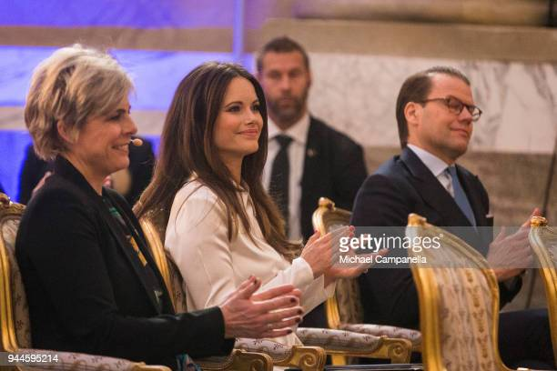 Princess Sofia of Sweden attends the Global Child Forum 2018 at the Stockholm Palace on April 11 2018 in Stockholm Sweden